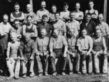 Picture relating to Newmarket - titled 'Portrait of a group of workers, Newmarket, Brisbane, ca. 1942'