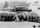 Picture relating to Brisbane - titled 'Gathering of the Latvian Lutheran congregation, 1951'