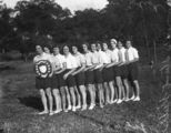 Picture relating to Toowoomba - titled 'Championship winning Brisbane netball team in Toowoomba, 1932'