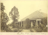 Picture relating to New Farm - titled 'Kinellan homestead on the banks of the Brisbane River, New Farm, 1869'