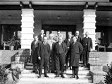 Picture relating to Canberra - titled 'Group of delegates to Congress of Architects, Hotel Canberra.'