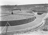 Picture relating to Weston Creek - titled 'Weston Creek sewerage treatment works-trickling filters ready for use'