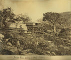 Picture relating to Cooktown - titled 'Mounted Police starting out on a patrol'