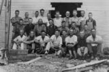 Picture relating to Biggenden - titled 'Builders and butter factory workers at the Biggenden Butter Factory, ca. 1926'