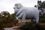 Picture relating to Chichester Range - titled 'Giant Ram Statue in Wagin: Symbol  of a farming town'