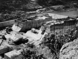 Picture relating to Somerset Dam - titled 'Somerset Dam during construction, July 1938'