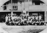 Picture relating to Macknade - titled 'South Sea Islander labourers at Macknade, near Ingham, Queensland'