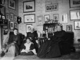 Picture relating to Queensland - titled 'Women from the Alder? family sitting in their parlour, 1890s'