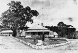 Picture relating to Stanthorpe - titled 'Front view of the Military Hospital at Stanthorpe'