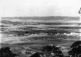 Picture relating to Duntroon - titled 'View from Red Hill over Manuka and Kingston toward Duntroon, Collins Park in foreground.'