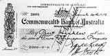 Picture of / about 'Page' the Australian Capital Territory - Cheque for 2000 pounds presented to Bert Hinkler, signed by Earle Page, Treasurer and Hon. S. M. Bruce, Prime Minister.