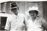 Picture relating to Three Moon - titled 'Allan McDermid and Violet McDermid  at Three Moon Farm'
