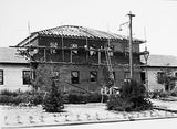 Picture relating to Ainslie - titled 'Gorman House, construction of additions, Ainslie Avenue, Reid.'