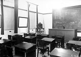 Picture relating to Banks - titled 'Lecture Room, Australian Forestry School, Banks Street Yarralumla.'