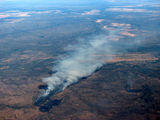 Picture relating to Pine Creek - titled 'Aerial photo of Forest fires near Pine Creek'