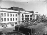Picture relating to Parliament House - titled 'Old Parliament House under construction from the north west'