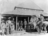 Picture relating to Croydon - titled 'Guards supervising the loading of money on to the stagecoach, Bank of New South Wales, Croydon, ca. 1906'