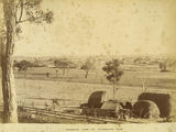 Picture relating to Warwick - titled 'Skyline of Warwick as seen from railway line looking towards Glengallan Road, Warwick, ca. 1897'