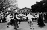 Picture relating to Coronation Drive - titled 'Latvian folk group dancing, Brisbane, 1953'