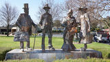 Picture relating to Gundagai - titled 'Dad & Dave and Mum & Mabel sculptures'