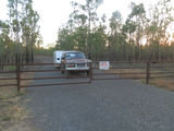 Picture relating to Fenton Airfield - titled 'Entrance gate at Fenton Airfield NT'