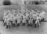 Picture relating to Nudgee - titled 'Dumbell drill on the front lawn of Nudgee College, Brisbane, 1898'