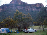 Picture relating to Newnes - titled 'Newnes campground dusk'