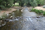Picture relating to Harrietville - titled 'Ovens River at Harrietville'