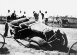Picture relating to Ingham - titled '1924 Buick Tourer after a road accident, Ingham, 1925'