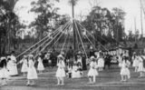 Picture relating to Queensland - titled 'Children maypole dancing, 1900-1910'