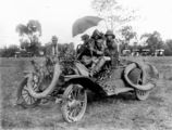 Picture relating to Taroom - titled 'Car and crew at the Taroom showgrounds, ca. 1930'