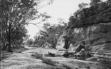 Picture relating to Queensland - titled 'Section of desert sandstone, Queensland'