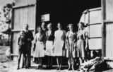 Picture relating to Buderim - titled 'Members of the original staff standing near the Buderim Ginger Factory, 1941'