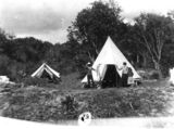 Picture relating to Queensland - titled 'Family camping at an unidentified location, 1900-1910'