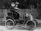 Picture of / about 'Ipswich' Queensland - Out driving in an early Linon motor car in Ipswich.