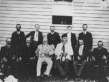 Picture relating to Millmerran - titled 'Members of the Millmerran Shire Council in 1914'