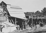 Picture relating to Mount Ainslie - titled 'Stone crushing and screening plant, eastern side of Mount Ainslie, quarry was up the hill.'