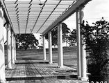 Picture relating to Adelaide Avenue - titled 'Pergola at the rear of the Prime Ministers Lodge, Adelaide Avenue, Deakin.'