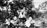 Picture relating to Thursday Island - titled 'Herring family picnic on Thursday Island, ca. 1920'