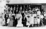 Picture of / about 'Minden' Queensland - Mann family wedding party, Minden area, ca. 1923