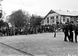 Picture relating to Duntroon - titled 'Part of the crowd at the parade at Duntroon RMC [Royal Military College]'