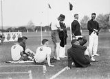 Picture relating to Duntroon - titled 'RMC [Royal Military College] Duntroon Sports Day, Athletes resting.'