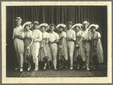 Picture relating to Gympie - titled 'Members of the Black and White Costume Company, Gympie, 1917'