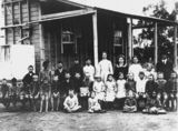 Picture relating to Bollon - titled 'Pupils and staff at Bollon State School, 1913'