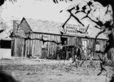 Picture relating to Stanthorpe - titled 'Offices of the Border Post and Stannum Miner, near the corner of Maryland and Folkstone Street, Stanthorpe, 1872'