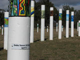 Picture relating to Lake Burley Griffin - titled 'The SIEV X Memorial Close-up of a Pole'