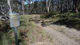 Picture relating to Mount Gingera - titled 'Mount Franklin road past the Mount Ginini carpark on its way to Mount Gingera'