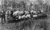 Picture relating to Cooroy - titled 'Members of the Cooroy Rifle Club at the Cooroy showgrounds, 1914'