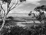 Picture relating to Parliament House - titled 'View from Mt Ainslie along Anzac Parade to Old Parliament House. Site for the Australian War Memorial in front.'
