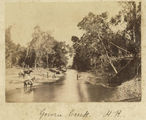 Picture relating to Ingham - titled 'Taking a rest at Gowrie Creek, Herbert River, near Ingham, ca. 1881'